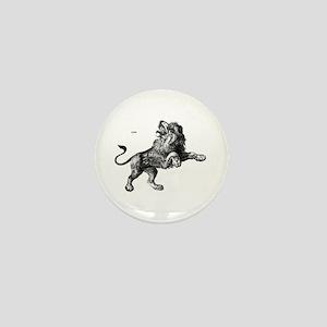 Lion Wild Animal Mini Button
