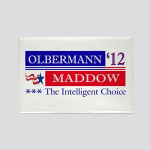 olbermann maddow 2012 Rectangle Magnet