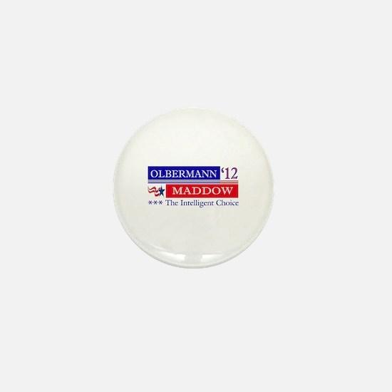 olbermann maddow 2012 Mini Button