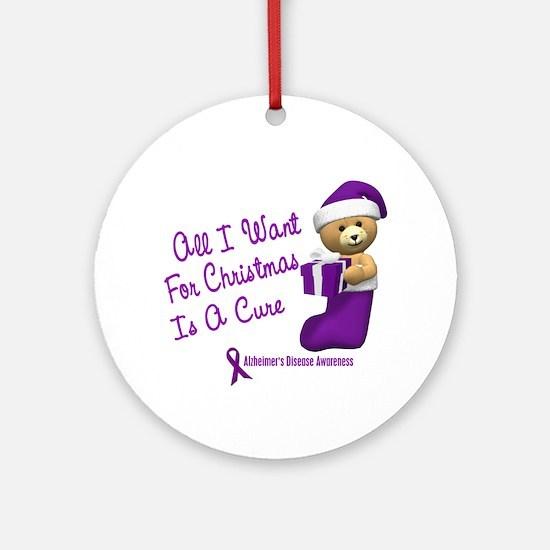 Bear In Stocking 1 (Alzheimer's Disease) Ornament