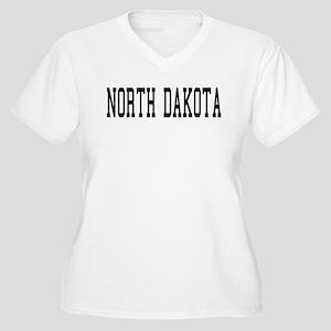North Dakota Women's Plus Size V-Neck T-Shirt