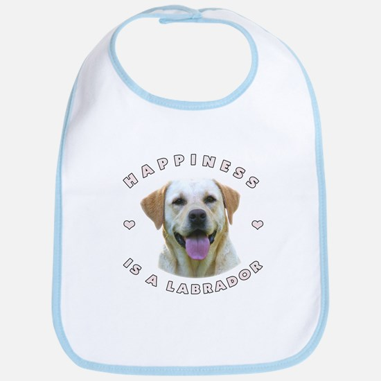 Happiness is a Labrador! Bib