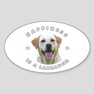 Happiness is a Labrador! Oval Sticker