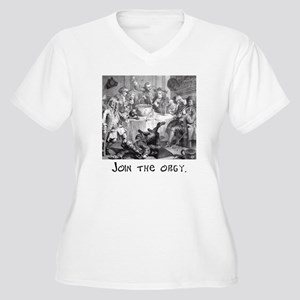 Join the orgy. Women's Plus Size V-Neck T-Shirt