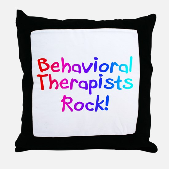 Behavioral Therapists Rock! Throw Pillow