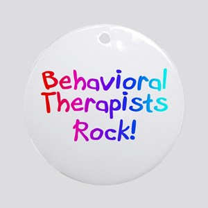 Behavioral Therapists Rock! Ornament (Round)