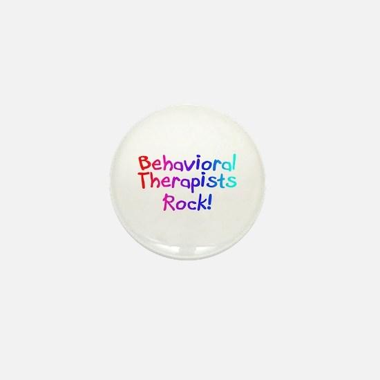 Behavioral Therapists Rock! Mini Button