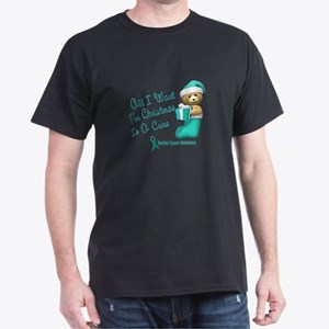 Bear In Stocking 1 (Cervical Cancer) Dark T-Shirt