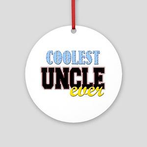 Coolest Uncle Ornament (Round)