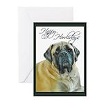 Mastiff Happy Howlidays Chris Greeting Cards (Pk o