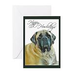 Mastiff Happy Howlidays Chris Greeting Card