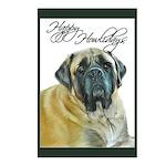 Mastiff Happy Howlidays Chris Postcards (Package o