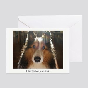 I hurt when you hurt. Greeting Card