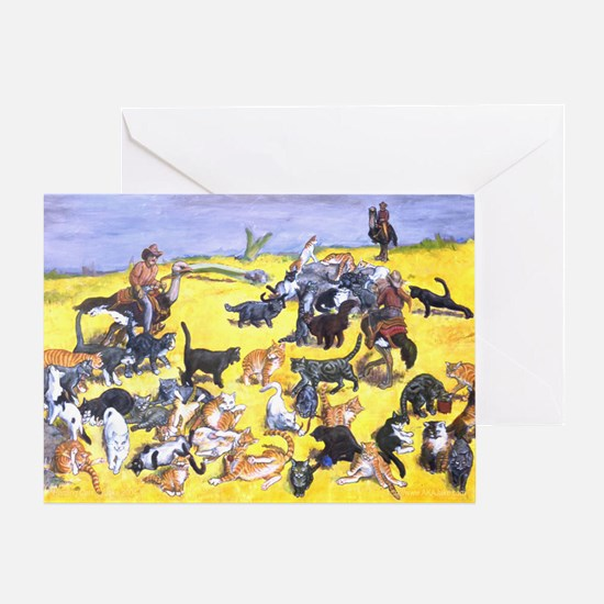 Herding Cats Greeting Card