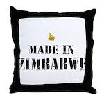 Made in ZImbabwe Throw Pillow