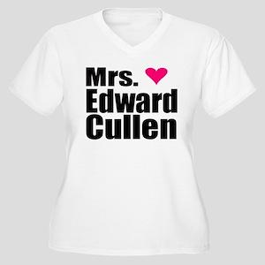 Mrs. Edward Cullen Women's Plus Size V-Neck T-Shir