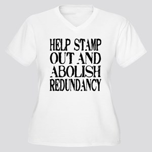 Stamp Out Redundancy Women's Plus Size V-Neck T-Sh