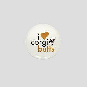 I Heart Corgi Butts - BHT Fluffy Mini Button