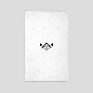 Argentina soccer emblem flag Area Rug