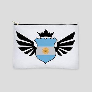 Argentina soccer emblem flag Makeup Bag
