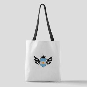 Argentina soccer emblem flag Polyester Tote Bag