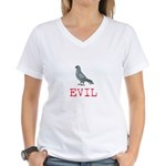 Evil Pigeon Women's V-Neck T-Shirt