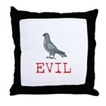Evil Pigeon Throw Pillow