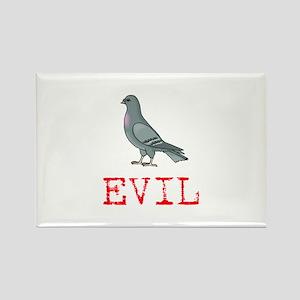 Evil Pigeon Rectangle Magnet