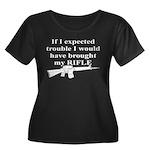 CH-02 Women's Plus Size Scoop Neck Dark T-Shirt