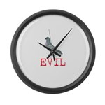 Evil Pigeon Large Wall Clock