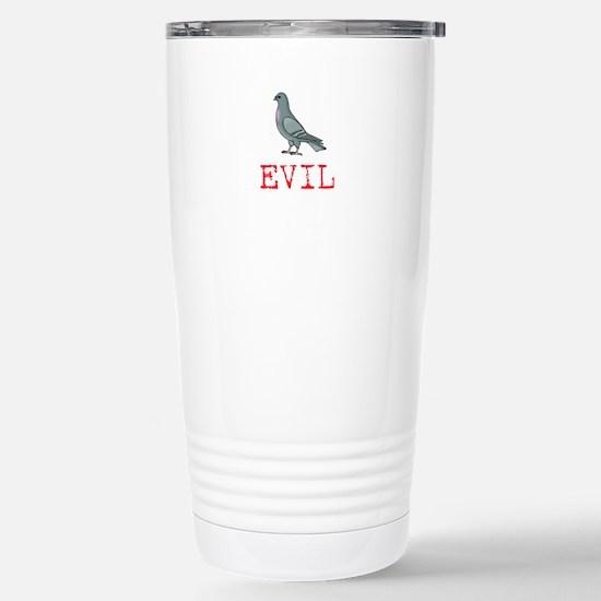 Evil Pigeon Stainless Steel Travel Mug