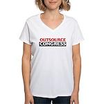 Outsource Congress Women's V-Neck T-Shirt