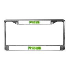 I Love-Alien South Carolina License Plate Frame