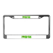I Love-Alien New York License Plate Frame