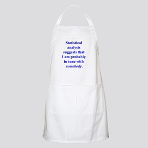 Statistically in Tune . . . BBQ Apron