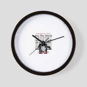 JFK KILLED Wall Clock