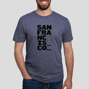 San Francisco Block Bay Bridge T-Shirt