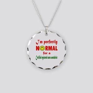 I'm perfectly normal for a C Necklace Circle Charm