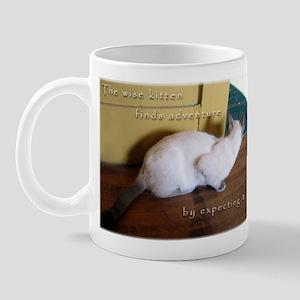 Adventurous Siamese Kitten Mug
