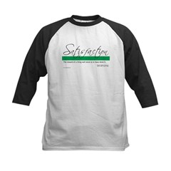 Satisfaction - Emerson Quote Kids Baseball Jersey