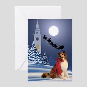 Sheltie & Santa Christmas Card