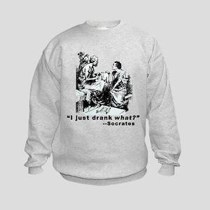 Socrates Humor Hemlock Kids Sweatshirt