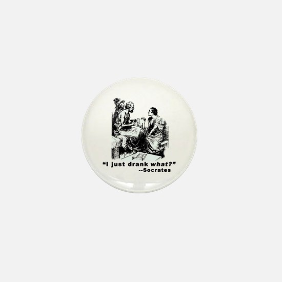 Socrates Humor Hemlock Mini Button