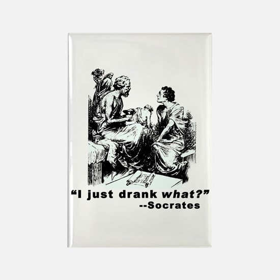 Socrates Humor Hemlock Rectangle Magnet (10 pack)