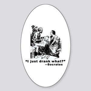 Socrates Humor Hemlock Oval Sticker