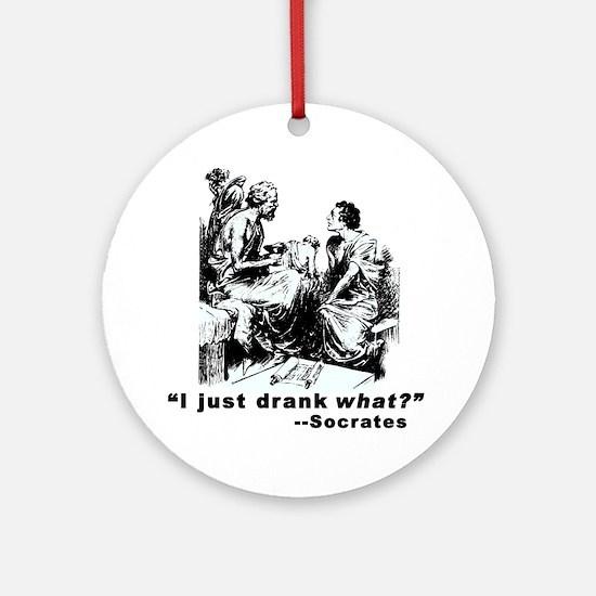 Socrates Humor Hemlock Ornament (Round)