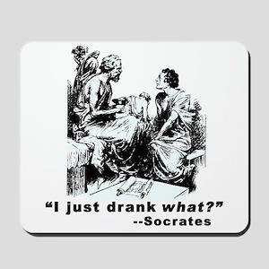 Socrates Humor Hemlock Mousepad