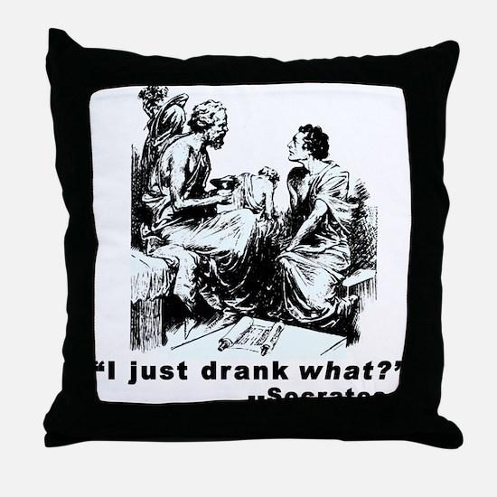 Socrates Humor Hemlock Throw Pillow