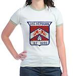 USS HEPBURN Jr. Ringer T-Shirt