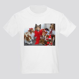 Christmas Collies Kids Light T-Shirt